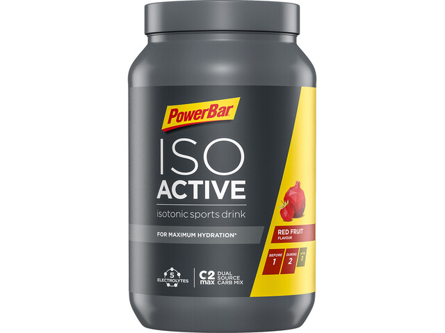 PowerBar Isoactive Isotonic Sports Drink 1320g, Red Fruit Punch